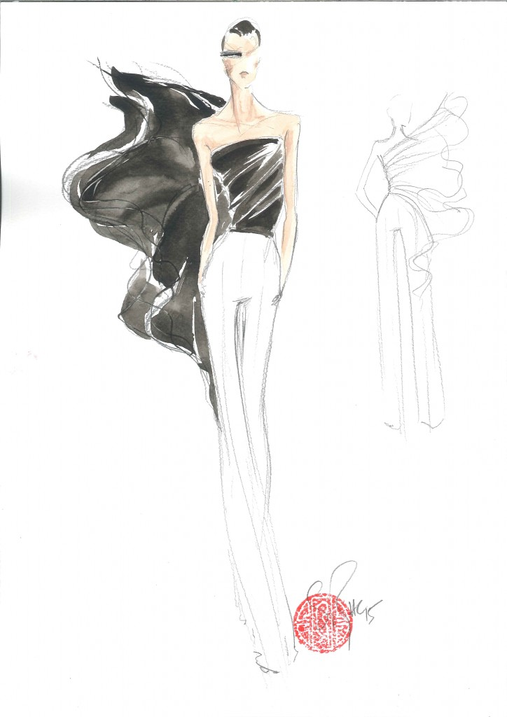 STEPHANE ROLLAND HAUTE COUTURE SKETCH - Spring/Summer 2015