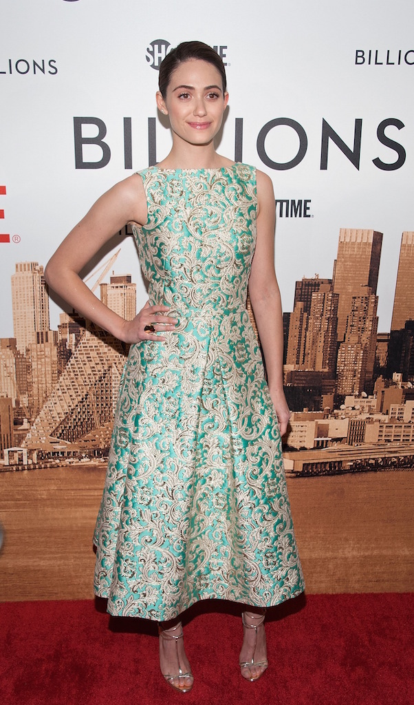 """NEW YORK, NY - JANUARY 07:  Emmy Rossum attends the """"Billions"""" series premiere at the Museum of Modern Art on January 7, 2016 in New York City.  (Photo by D Dipasupil/FilmMagic)"""