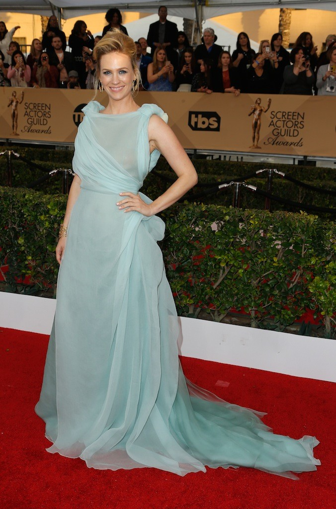 Actress January Jones attends the 22nd Annual Screen Actors Guild Awards at The Shrine Auditorium on January 30, 2016 in Los Angeles, California.
