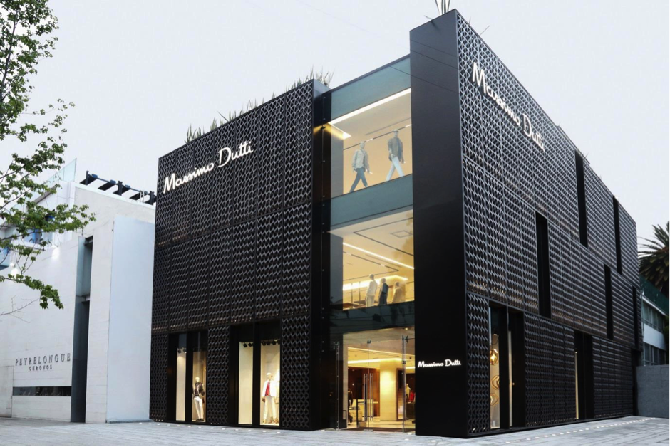 The refurbished Massimo Dutti store on Avenida Presidente Masaryk in Mexico City