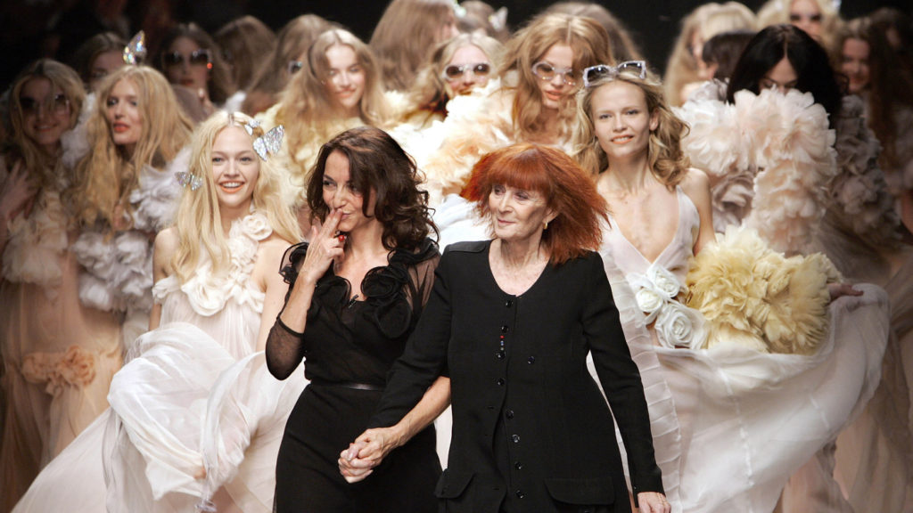 French designer Sonia Rykiel (right) and her daughter, Nathalie Rykiel, Spring/Summer 2008 (October 2007 in Paris)