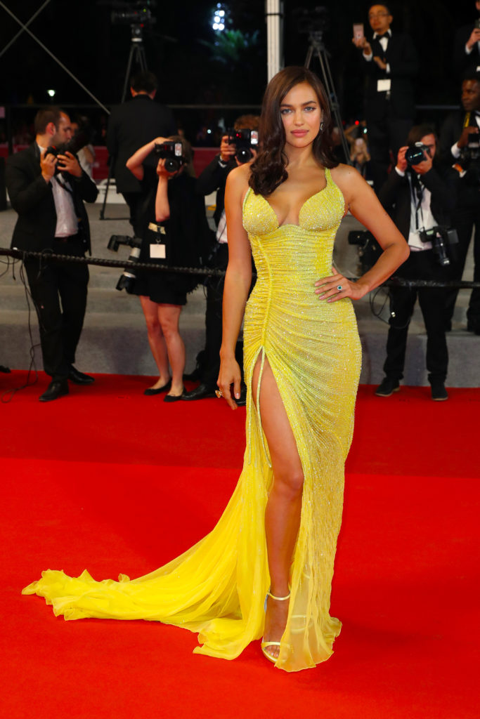 Irina Shayk wearing Atelier Versace in Cannes